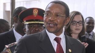 Jakaya Kikwete, président tanzanien, au sommet de l'Union africaine à Addis-Abeba, ce dimanche 26 mai.