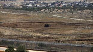 Vue de la zone démilitarisée du Golan occupée par Israël depuis 1967, près du village de Beer Ajam dans la province syrienne de Quneitra.