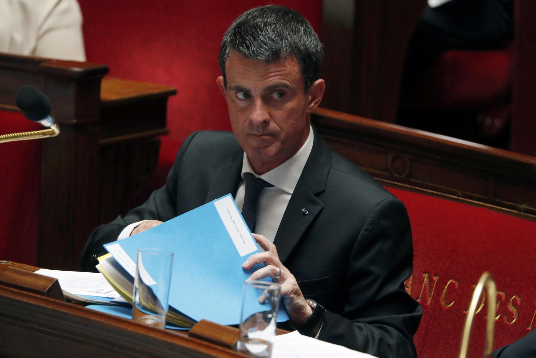O primeiro-ministro Manuel Valls na Assembleia Nacional francesa. 20/07/16