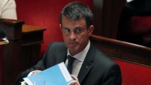 Manuel Valls à l'Assemblée nationale, le 20 juillet 2016.