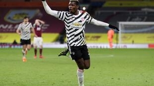 Pogback on top: Paul Pogba's winner at Burnley took Manchester United top of the Premier League for the first time in three years