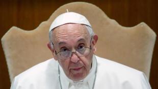 Le pape François à l'ouverture de la conférence épiscopale italienne au Vatican, le 20 mai 2019.