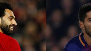 Mohamed Salah (Liverpool) et Luis Suarez (FC Barcelone).