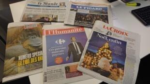 Diarios franceses  24.12.2018
