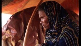 Une esclave sous une tente près de Chegar, en Mauritanie.