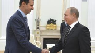Shugban Syria Bashar al-Assad da takwaransa na Rasha, Vladmir Putin