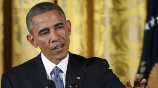 کنفرانس خبری دیروز باراک اوباما در کاخ سفید. ٦ نوامبر ٢٠١٤