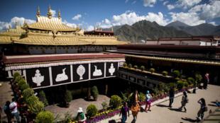 Một góc khu chùa  Đại Chiêu ( Jokhang) của người Tây Tạng. Ảnh chụp ngày 10/09/2016.
