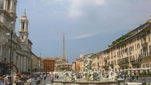 La place Navone à Rome en Italie.