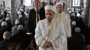 Célébration musulmane dans une mosquée à Rhodope, dans la région de Thrace, en Grèce.