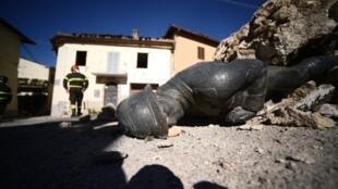 Dans le village de San Pellegrino, près de Norcia, deux jours après le séisme du 30 octobre.