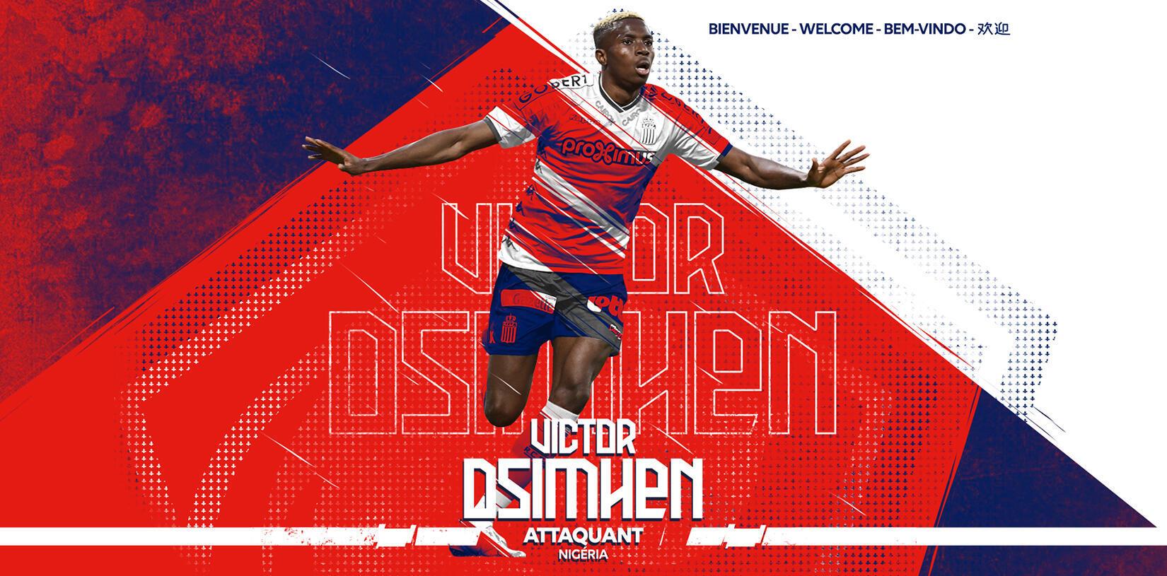 L'international nigérian Victor Oshimen s'est engagé pour les cinq prochaines saisons avec Lille.