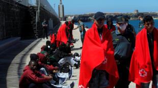 Bakin haure a tasahar jiragen ruwa na Tarifa a kasar Spain
