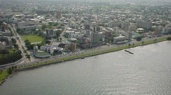 Mtazamo wa mji wa Libreville, mji mkuu wa Gabon.