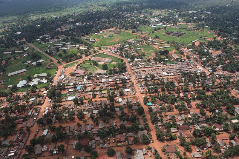 (Illustration) Une vue aérienne de la ville de Gbadolite, dans la province de l'Equateur, en République démocratique du Congo.