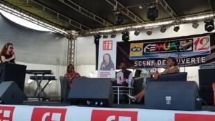 Enregistrement de l'émission à l'INJS de Marcory à Abidjan en Côte d'Ivoire.