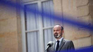 French Prime Minister Edouard Philippe at a press conference