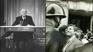 En una discurso televisado, el Genral Charles de Gaulle puso fin a la revolución de mayo del 68 que Daniel Cohn Bendit había inciado semanas antes con el estudiantado y los obreros.