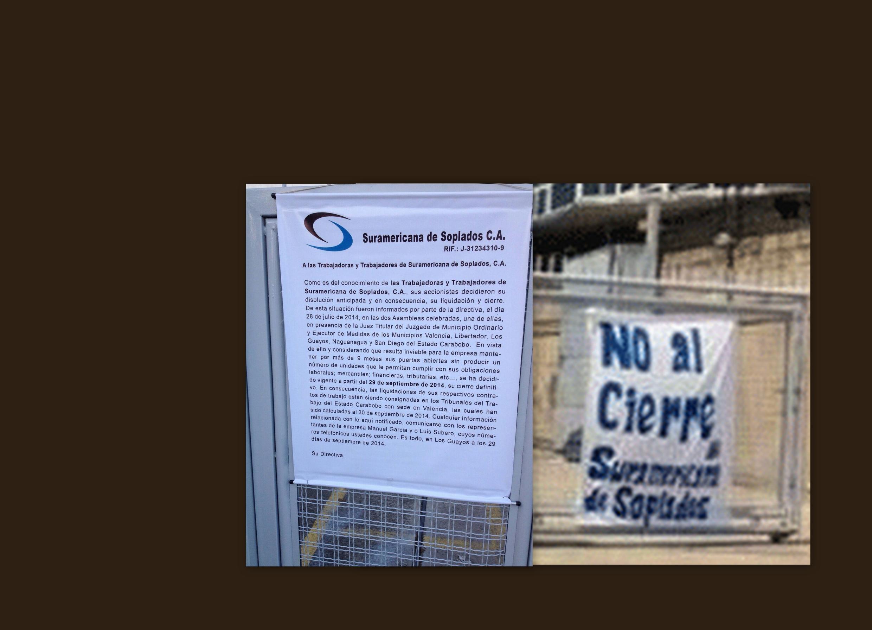 Nota da direção para os funcionarios informando do fechamento da Empresa Suramericana. Fotomontagem