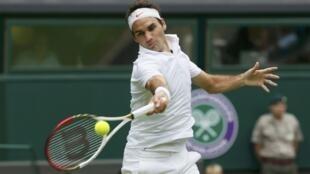 Roger Federer en Wimbledon, este 24 de junio de 2013.