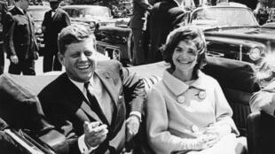 John F. Kennedy et sa femme Jackie, à Washington, le 3 mai 1961.