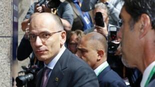 Enrico Letta, le Premier ministre italien, à son arrivée au sommet de l'Union européenne à Bruxelles, le 27 juin 2013.