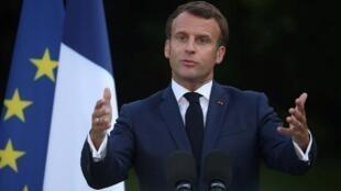 Emmanuel Macron, ici à l'Elysée le 22 juin 2020.