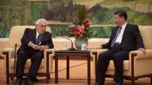 基辛格与习近平会晤2016年12月2日北京