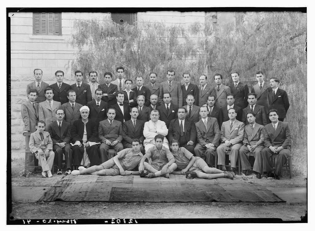 Arab staff at PBS, 1941