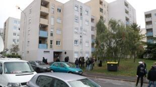 Edificio en donde fue detenido Redoine Faid. Creil, al norte de Paris.