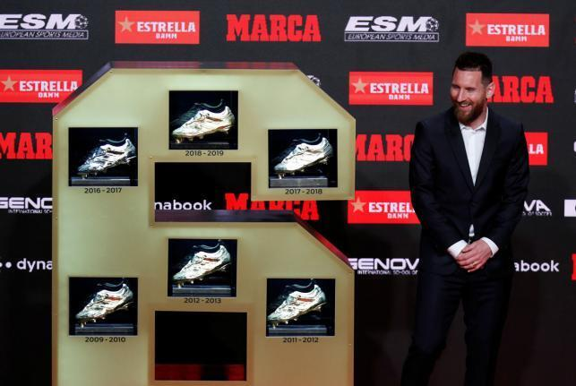 Lionel Messi, bayan lashe kyautar takalmin zinare na 6.