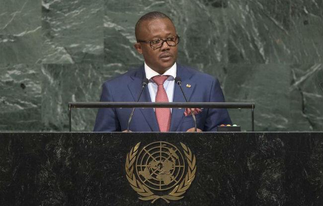 Umaro Sissoco Embaló, Primeiro-ministro da Guiné-Bissau. 21 de Setembro de 2017. Assembleia-geral da ONU.