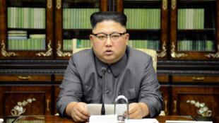 После речи Дональда Трампа в Генассамблее ООН лидер КНДР Ким Чен Ын обратился к нации по телевидению. Фото — ЦТАК