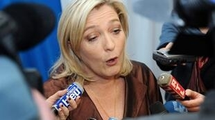 Marine Le Pen, candidata a la presidencia en 2012 por el Frente Nacional.