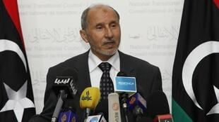 Le président libyen du CNT, Moustapha Abdeljalil.