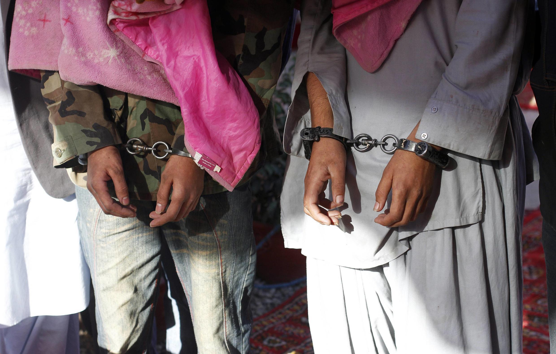 Ảnh minh họa tù nhân Taliban
