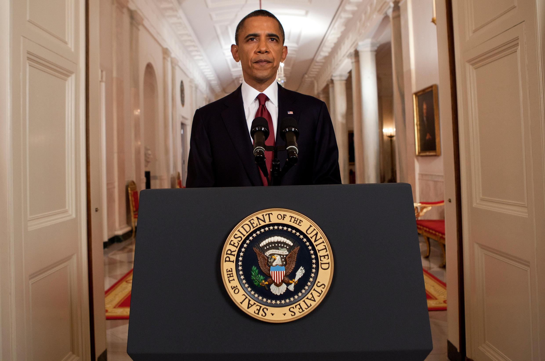 O presidente Barack Obama anuncia a morte de Bin Laden