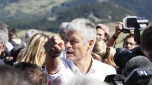Le président du parti Les Républicains photographié au mont Mezenc, près du Puy-en-Velay, le 26 août dernier.