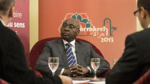 Donald Kaberuka, lors de l'entretien avec Frédéric Garat pour RFI et Frédéric Maury pour «Jeune Afrique».