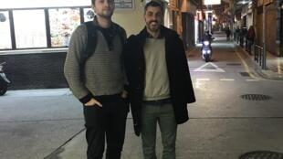 Maxim Bessmertnyi e António Faria, dois macaenses de adopção tendo em comum o cinema, a 12 de Dezembro de 2017.