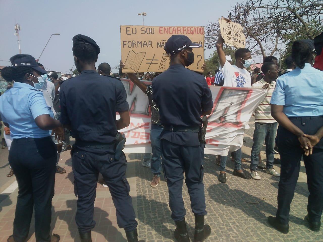 Concentração em Luanda.