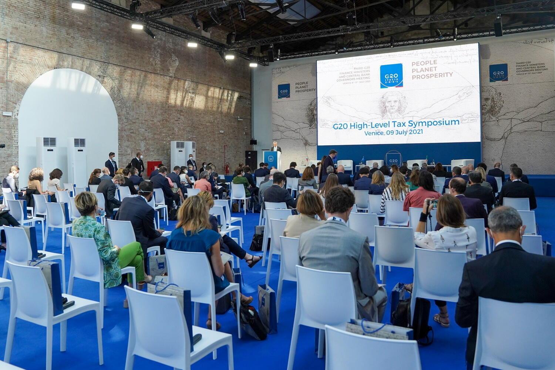 Reunión del G20 en Venecia sobre el acuerdo del impuesto global  a las multinacionales.