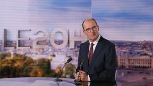 Le nouveau Premier ministre Jean Castex sur le plateau du journal de 20h de TF1 le 3 juillet 2020.