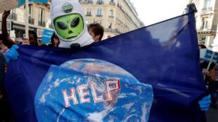 Ảnh minh họa - Một cuộc tuần hành bảo vệ khí hậu ở Paris, ngày 13/10/2018.