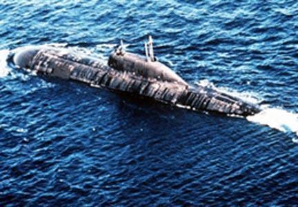 Un sous-marin russe de type Akula.