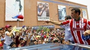 Comício de Henrique Capriles em Mérida.