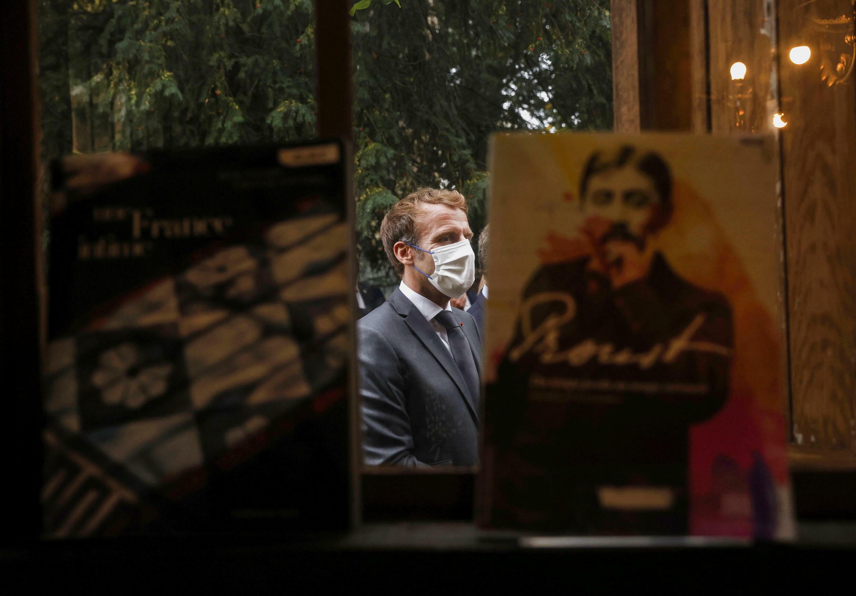 Emmanuel Macron visits the Marcel Proust museum_Illiers-Combray_15 Sept 2021_Reuters_Yoan Valat
