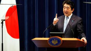 资料图片:日本首相安倍晋三。2018年7月20日摄于东京。