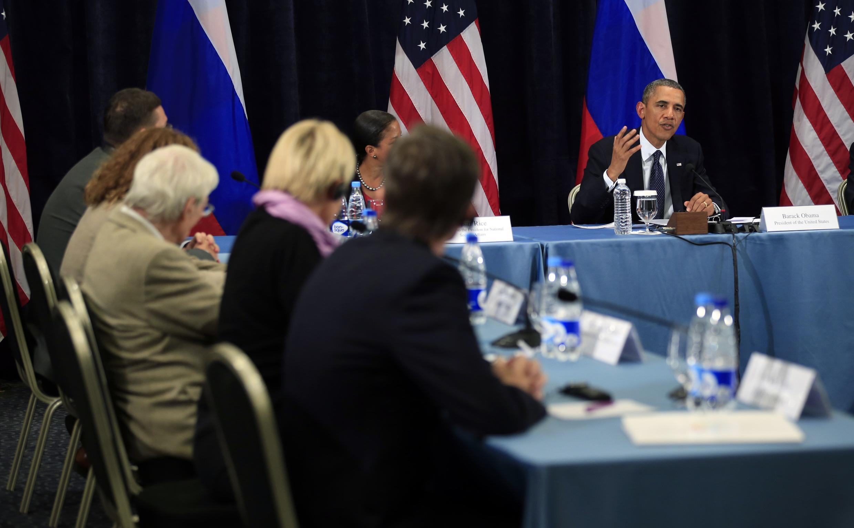 Барак Обама на встрече с представителями ЛГБТ-сообщества в Санкт-Петербурге 06/09/2013