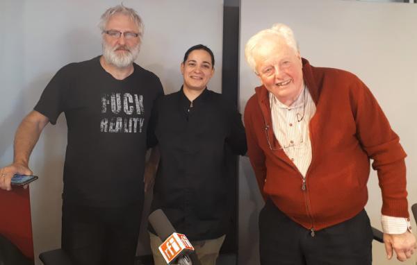 Stéphane Méjanès, Julia Sedefdjian et Bénédict Beaugé.